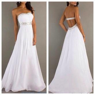 dress prom dress prom ivory dress white white dress fashion long prom dress long dress ball gown dress princess wedding dresses princess dress simple wedding dresses jumpsuit