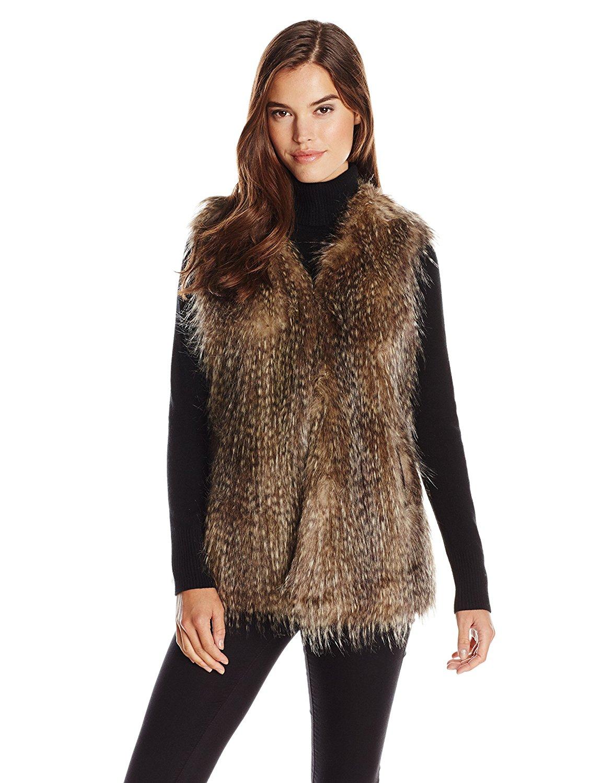 Spiga Women's Faux Fur Vest at Amazon Women's Coats Shop