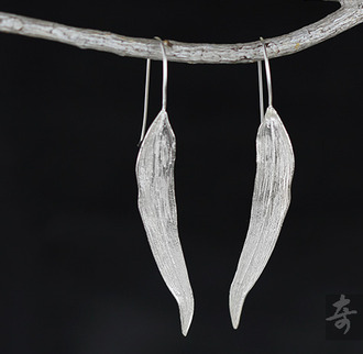 jewels willow earrings retro handmade sterling silver sterling silver earrings willow