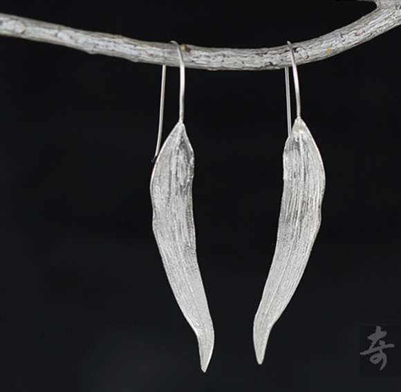 jewels sterling silver handmade willow earrings retro sterling silver earrings willow