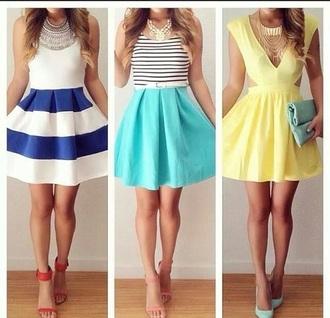 dress striped dress blue dress