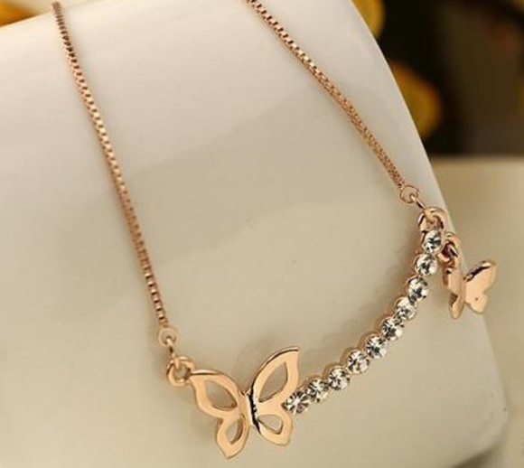 butterfly jewels necklace beautiful