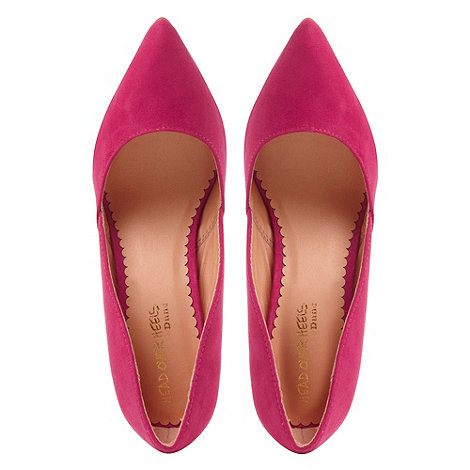 Pink pointed toe high heeled court shoe at debenhams.com
