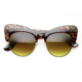 sunglasses cat eye tortoise sunglasses