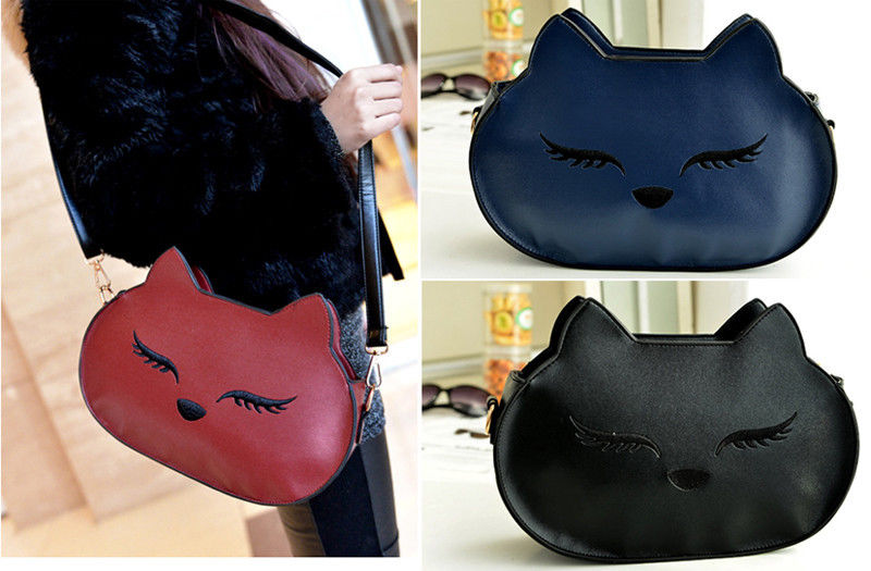 2014 New Style Fashion Women Cat face Shoulder Handbag Messenger Tote Purse bag