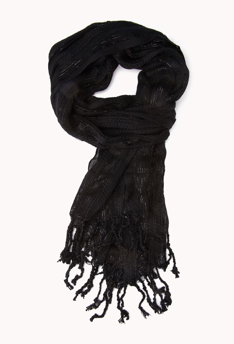 Foulard à Rayures Métalliques | FOREVER21 - 1000050999