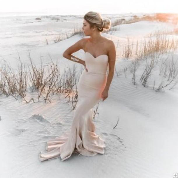 811bd43bed89 dress pink pale pink dress strapless dress bodycon dress maxi dress prom  dress long prom dress