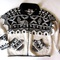 Vtg handknit cowichan black & white indian sweater m | ebay