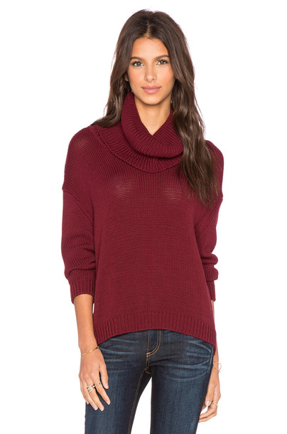 Central Park West sweater turtleneck turtleneck sweater burgundy