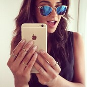 jewels,anarchy street,shay mitchell,pretty little liars,x ring,cross ring,gold ring,ring,sunglasses