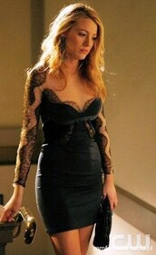 dress,serena van der woodsen,blake lively,black dress,urgent,need on the asap