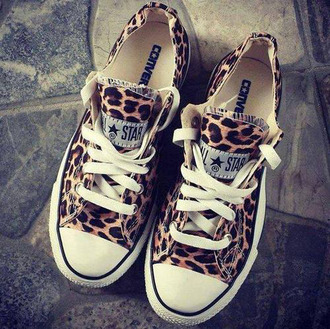 shoes converse all star leopard print all stars shorts