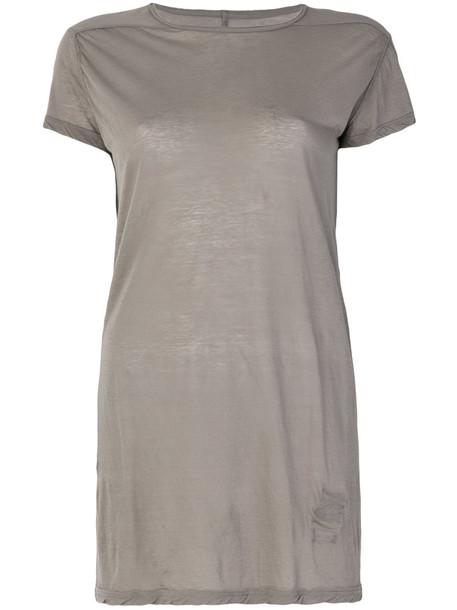 Rick Owens Drkshdw - loose fit T-shirt - women - Cotton - S, Grey, Cotton