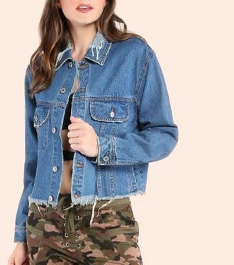 jacket girl girly girly wishlist blue denim denim jacket frayed frayed denim