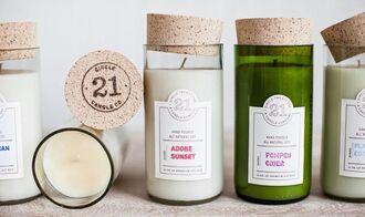 home accessory candle clear green home decor lifestyle pompeii cider scented unisex bikiniluxe