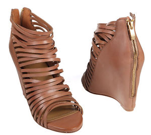 NEW $129 Vince Camuto Zeplin Leather Strappy Caged Wedge Sandals Shoes 9 5 M | eBay