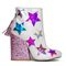 Y.r.u. | shop y.r.u. jem star glitter ankle boots in white/multi at lastylerush.com