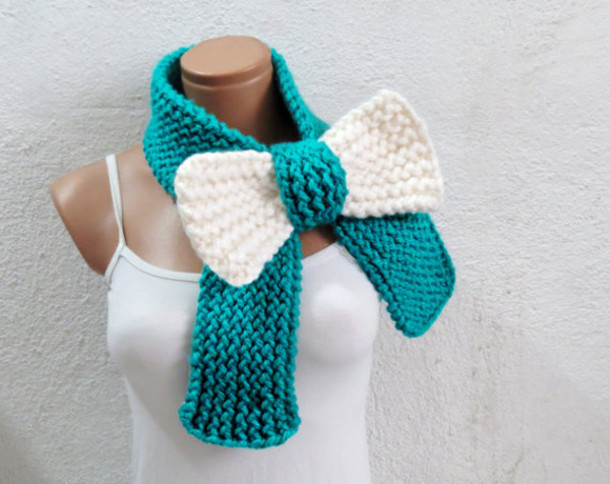 scarf bows bow scarf bow scarves scarfs in scarves white bow emerald green sc...