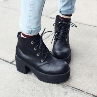 Up Platform Ankle Boots - Mancienne | YESSTYLE Australia