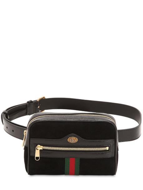 GUCCI Ophidia Suede Belt Pack in black