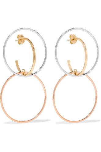 earrings hoop earrings gold silver jewels