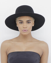 hat,fedora,black,black hat,black fedora,wide brim black hat