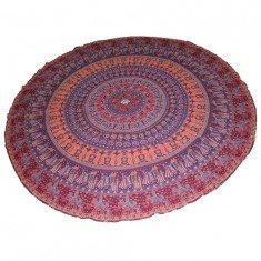 Indian Boho Hippie Round Mandala Beach Throw Picnic Roundies Tapestry