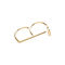 Intersect double finger ring silver / gold by mei-li rose | notonthehighstreet.com