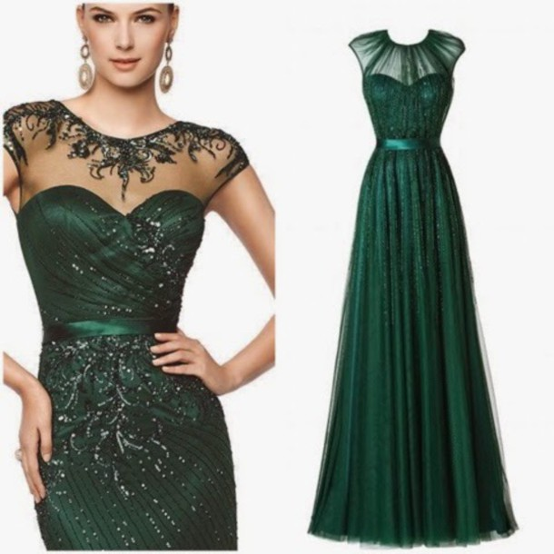 Green Beaded Sequin Dress Other Dresses Dressesss