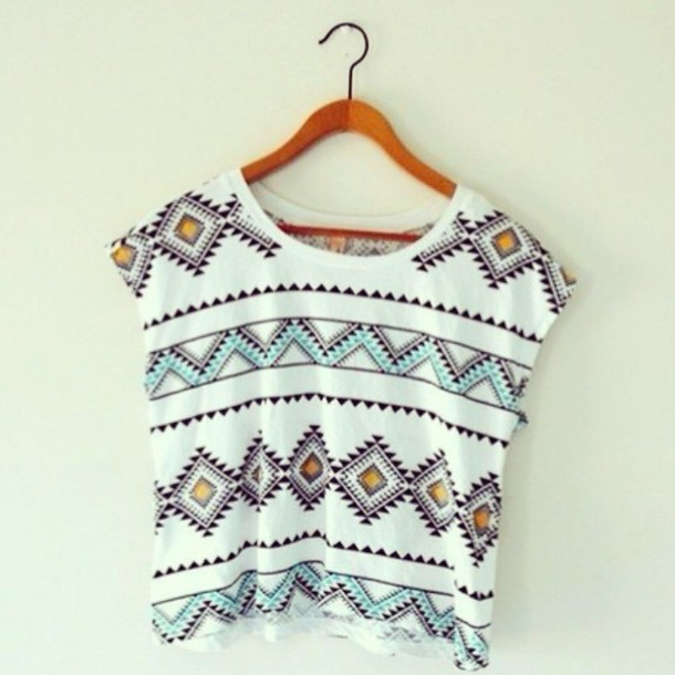 Shirt: hipster, tropical, tribal pattern, oversized t