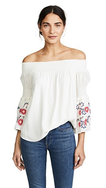 Ella Moon blouse embroidered ruffle top