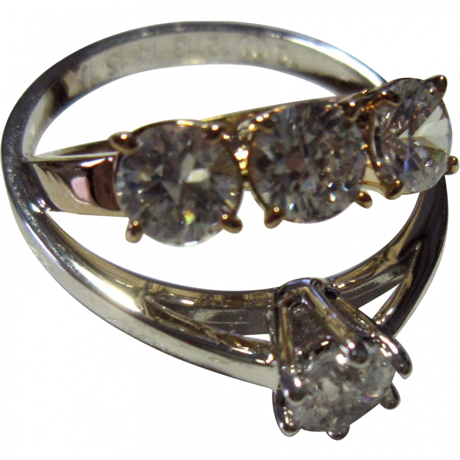 Gold and silver-tone glass double ring brand new MAISON MARTIN MARGIELA Gold in Glass All seasons - 766998