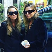 sunglasses,olsen sisters,mary kate olsen,ashley olsen,instagram,fashion week