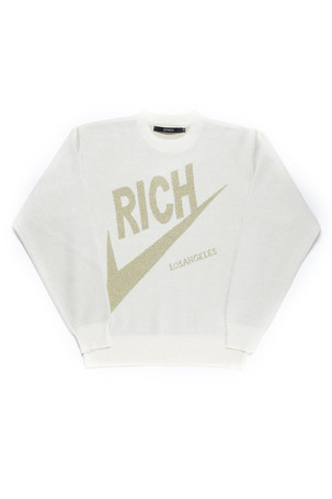 RICH KNIT CREW / OFF WHITE - JOYRICH Store