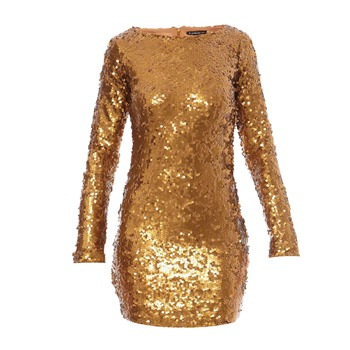 Robe en sequins dorés - Best Mountain - Nouvelle Collection et ventes privées - Ref: 1134479 | Brandalley