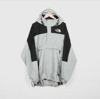 coat north face grey jacket windbreaker grey black north face jacket the north face coat