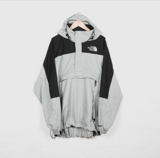 coat north face grey jacket windbreaker grey black north face north face  jacket the north face 80baa3623