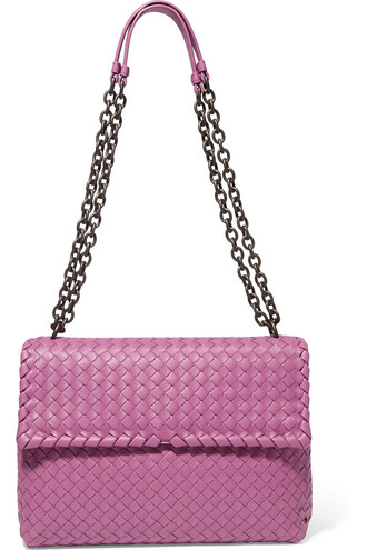 bag shoulder bag leather magenta