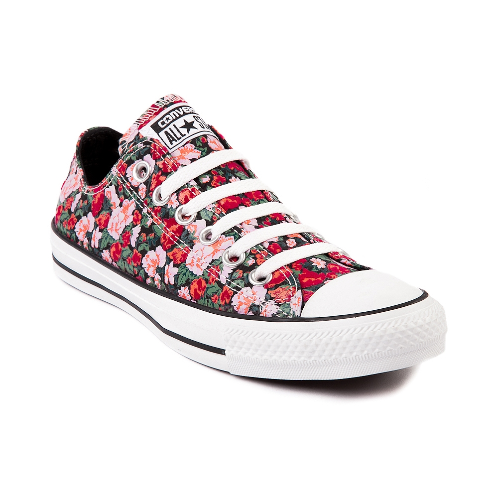 Converse All Star Lo Floral Sneaker, Black Red Floral   Journeys Shoes