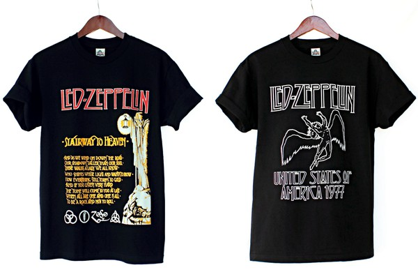 t-shirt 60s style 70s style 80s style stairway to heaven justvu.com led zeppelin hard rock heavy metal 80s style band t-shirt hipster blogger mens t-shirt american cool