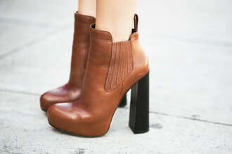 shoes brown boots heels