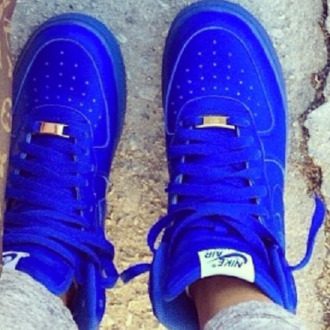 shoes nike air force 1 blue sneakers high top sneakers nike sneakers nike