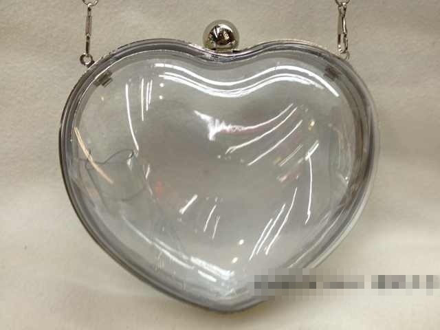 Free shipping candy color  women heart  evening bags and clutches clear transparent PVC hand bag  women shoulder bags XP80-in Evening Bags from Luggage & Bags on Aliexpress.com