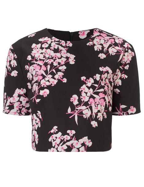 Jonathan Saunders top floral black
