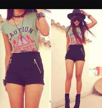 shorts zipper shorts black club shorts dressy plain casual zipper shorts pockets summer shorts shirt