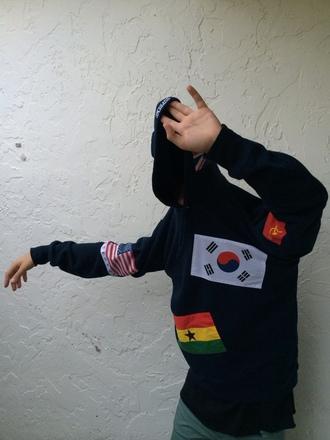 sweater supreme dope american flag korean fashion beautiful cute nike mens hoodie urban menswear