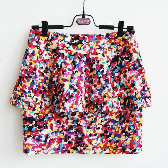 multicolor skirt