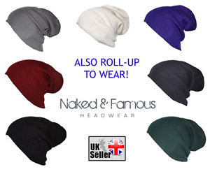 Knitted Slouch Oversized Baggy Winter Beanie/Hat Mens/Ladies 7 Colours!