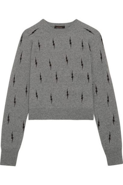 c3093684eb4 Kate Moss for Equipment - Ryder Intarsia Cashmere Sweater - Gray
