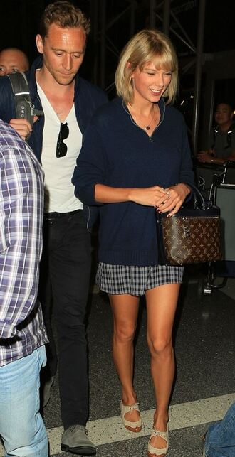 skirt top shoes taylor swift louis vuitton nude shoes mini skirt long sleeves menswear mens t-shirt mens jeans